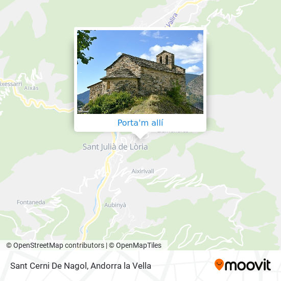 mapa Iglesia De Sant Cerni De Nagol