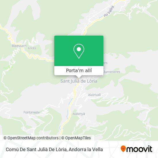 mapa Comú De Sant Julià De Loira