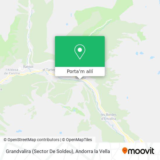 mapa Grandvalira (Sector De Soldeu)