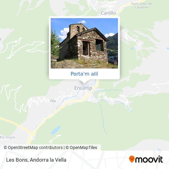 mapa Les Bons