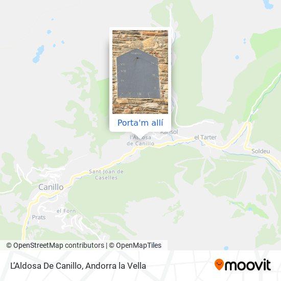 mapa L'Aldosa De Canillo