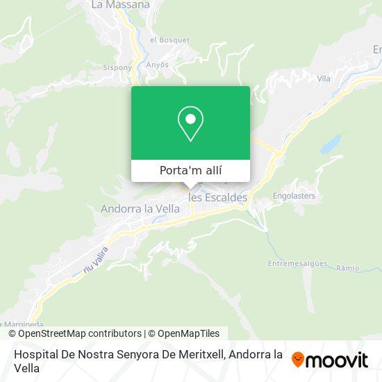 mapa Hospital De Nostra Senyora De Meritxell