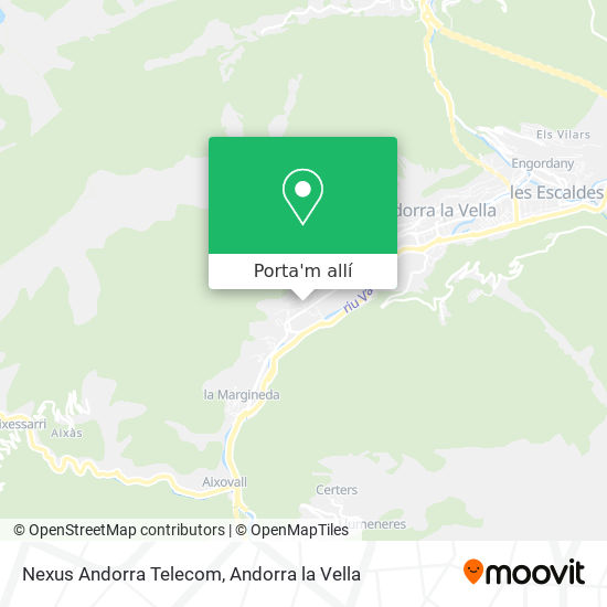 mapa Nexus Andorra Telecom