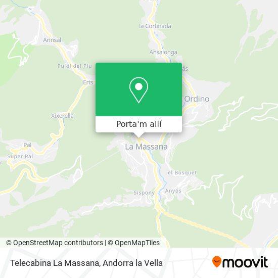 mapa Telecabina La Massana