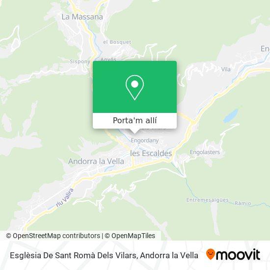 mapa Iglesia De Sant Romà Dels Vilars