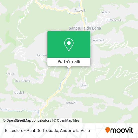 mapa E. Leclerc - Punt De Trobada