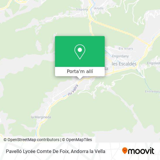 mapa Pavelló Lycée Comte De Foix