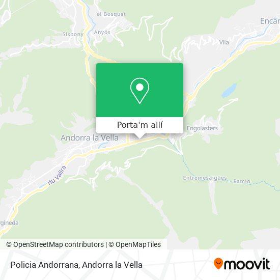 mapa Policia Andorrana