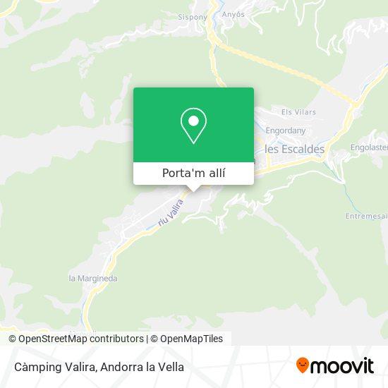 mapa Càmping Valira
