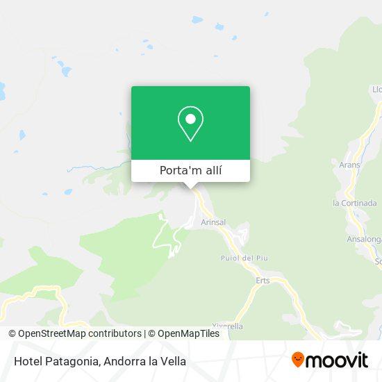 mapa Hotel Patagonia