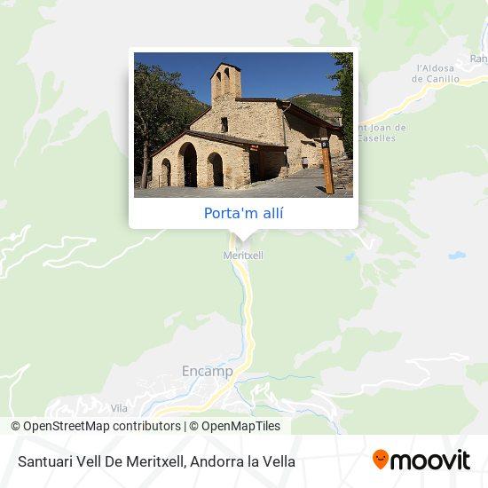 mapa Santuari Vell De Meritxell
