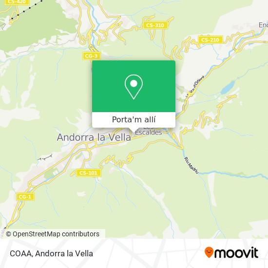 mapa COAA