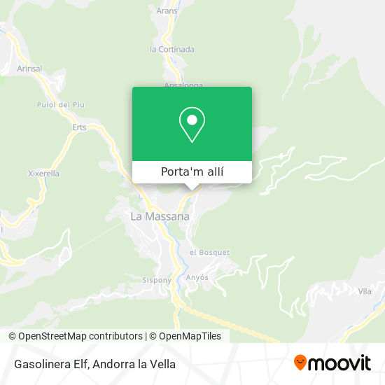 mapa Gasolinera Elf