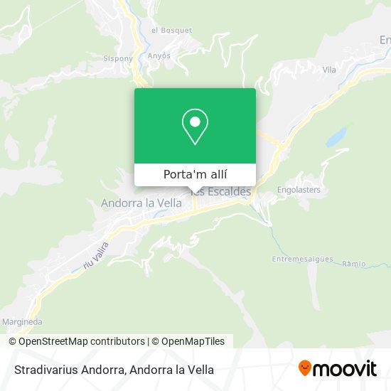 mapa Stradivarius Andorra