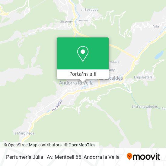 mapa Perfumería Júlia | Av. Meritxell 66