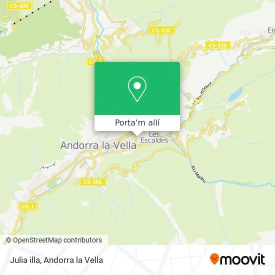 mapa Julia illa