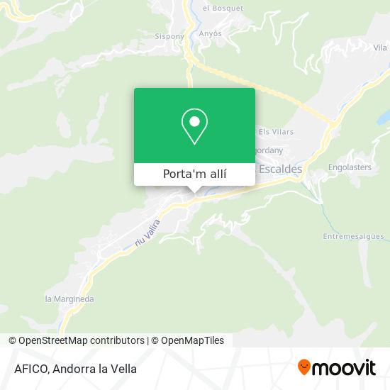 mapa AFICO