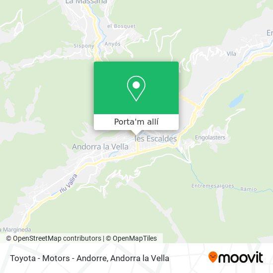 mapa Toyota - Motors - Andorre
