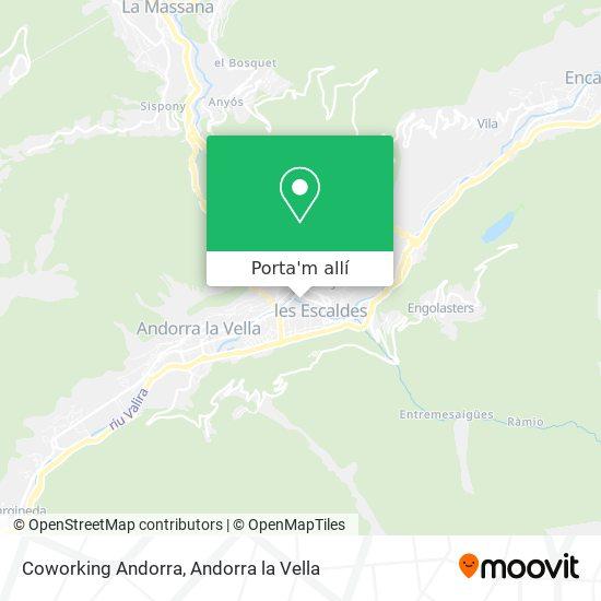 mapa Coworking Andorra