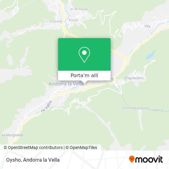 mapa Oysho