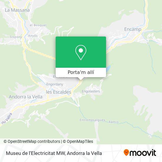 mapa Museu de l'Electricitat MW