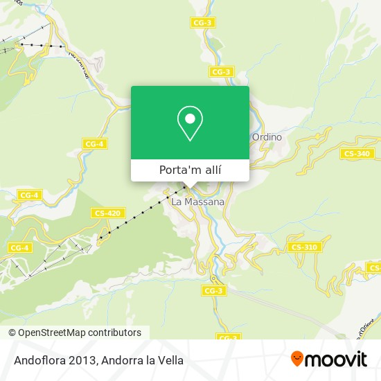 mapa Andoflora 2013