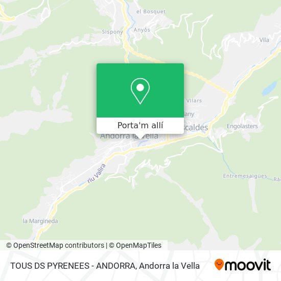 mapa TOUS DS PYRENEES - ANDORRA