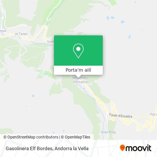 mapa Gasolinera Elf Bordes