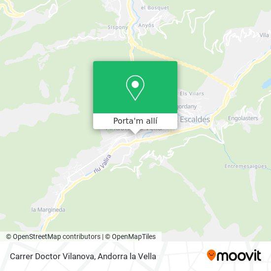 mapa Carrer Doctor Vilanova