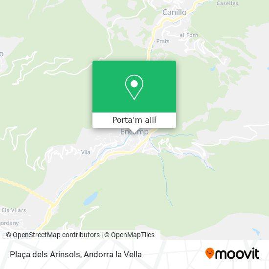 mapa Plaça dels Arínsols