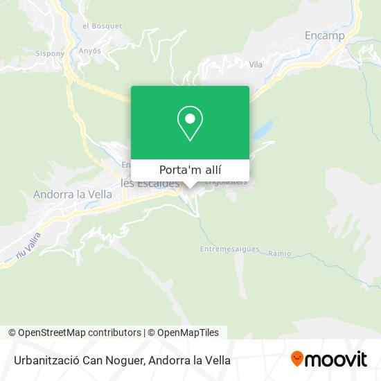 mapa Urbanització Can Noguer