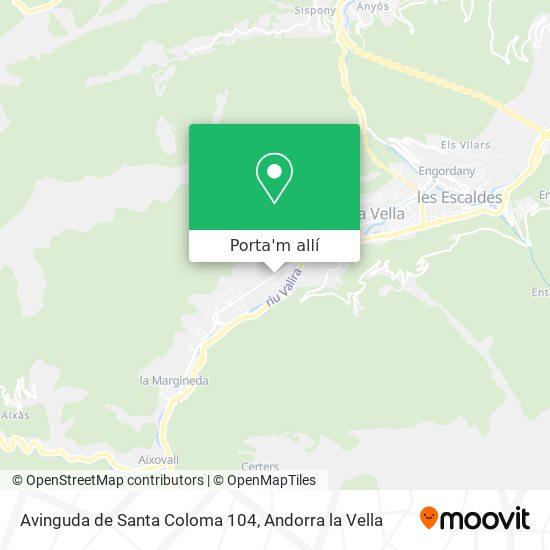 mapa Avinguda de Santa Coloma 104