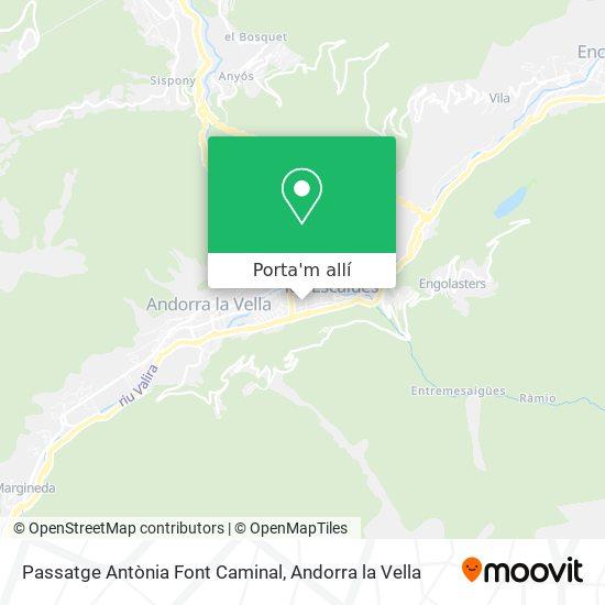 mapa Passatge Antònia Font Caminal