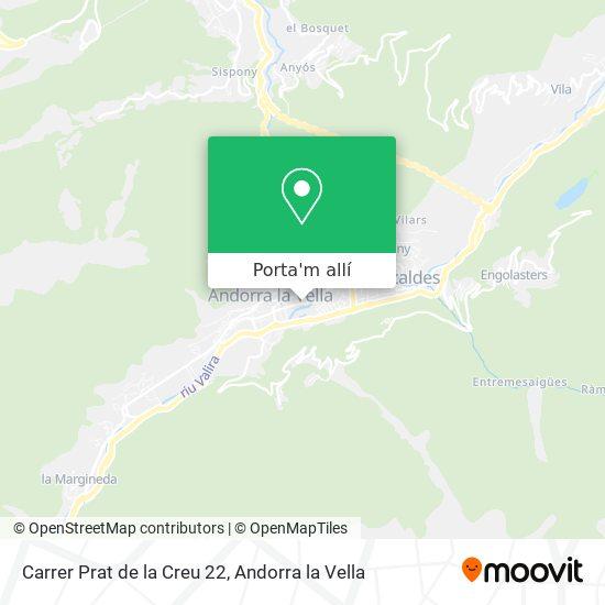 mapa Carrer Prat de la Creu 22