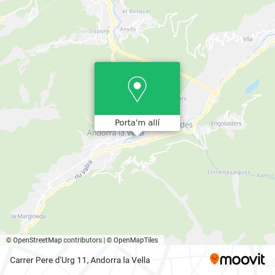 mapa Carrer Pere d'Urg 11