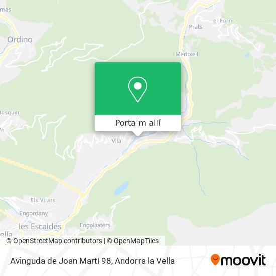 mapa Avinguda de Joan Martí 98