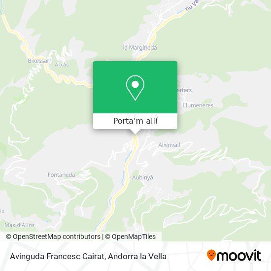 mapa Avinguda Francesc Cairat