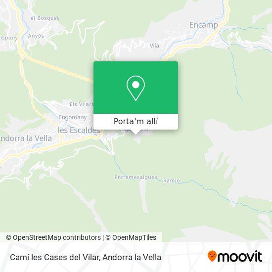 mapa Camí les Cases del Vilar