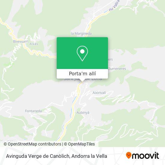 mapa Avinguda Verge de Canòlich