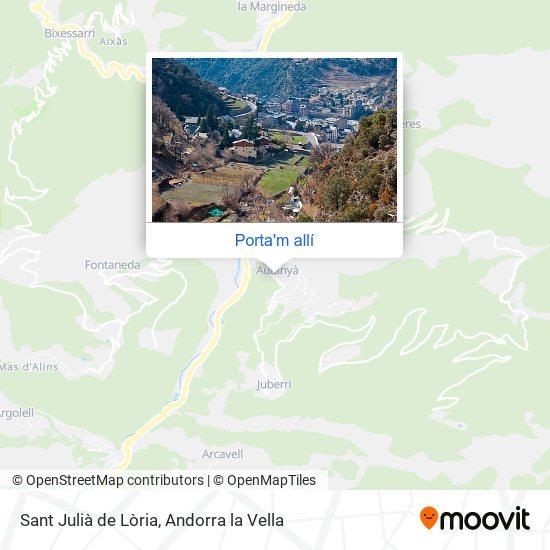 mapa Sant Julià de Lòria