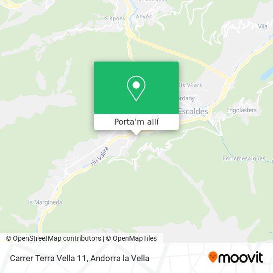 mapa Carrer Terra Vella 11