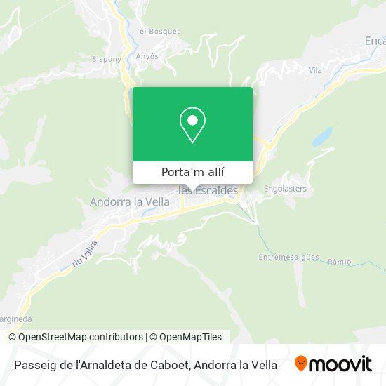 mapa Passeig de l'Arnaldeta de Caboet
