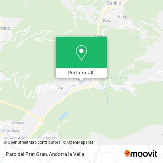 mapa Parc del Prat Gran