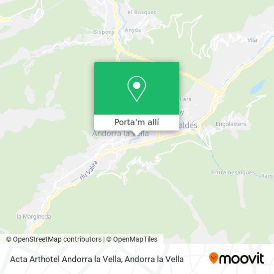 mapa Acta Arthotel Andorra la Vella