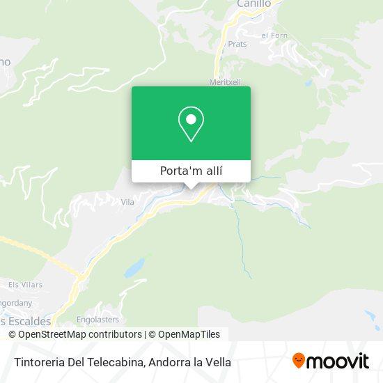 mapa Tintoreria Del Telecabina