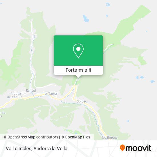 mapa Vall d'Incles