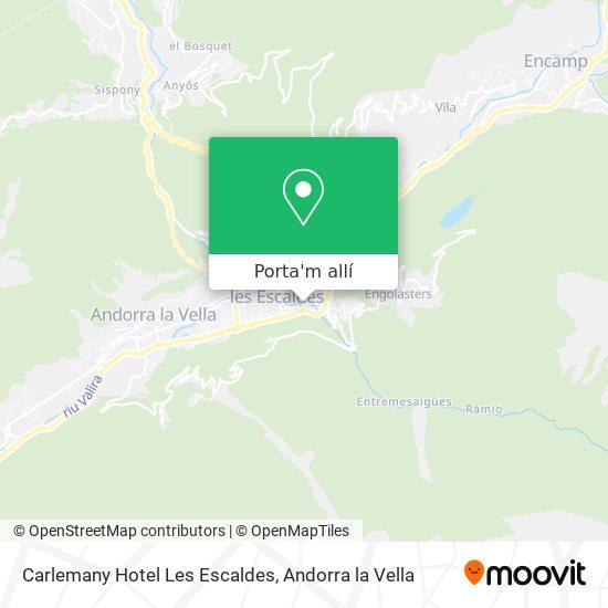 mapa Carlemany Hotel Les Escaldes