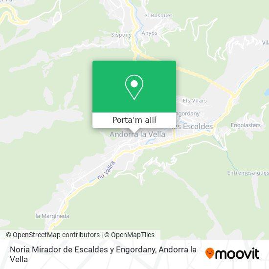 mapa Noria Mirador de Escaldes y Engordany