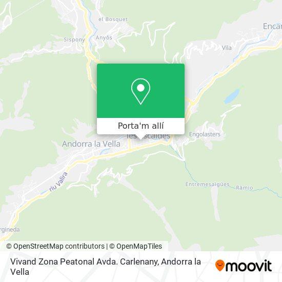 mapa Vivand Zona Peatonal Avda. Carlenany