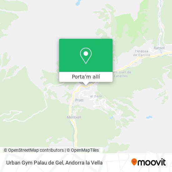 mapa Urban Gym Palau de Gel